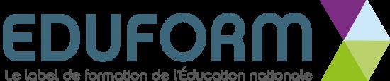 Logo du label eduform, label de formaton de l'Éducation nationale.